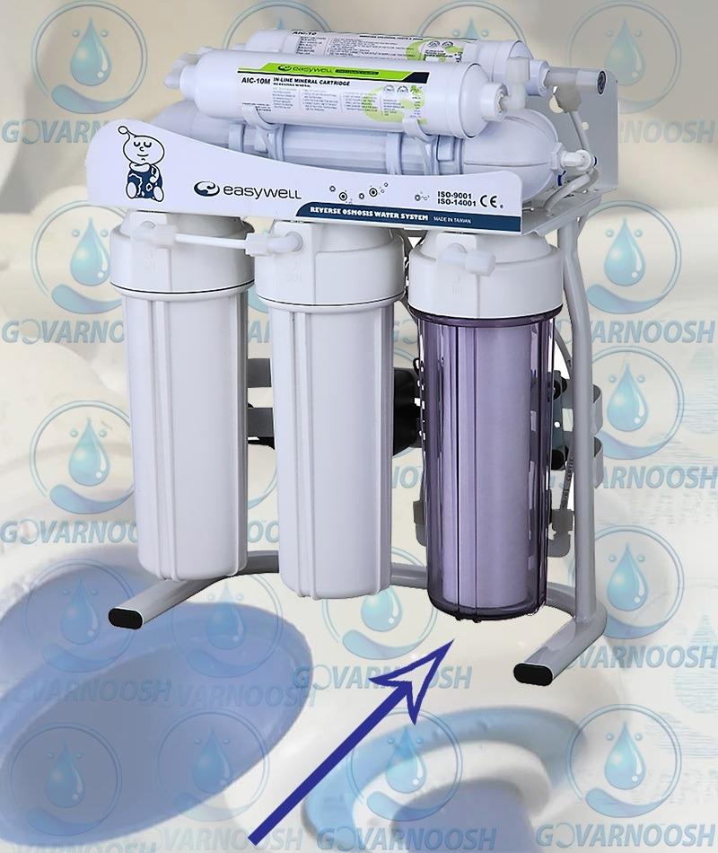 نحوه تعویض فیلتر دستگاه تصفیه آب خانگی ایزی ول مدل ro116 Eeasywell