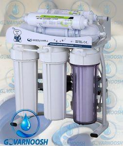نحوه تعویض فیلترهای دستگاه تصفیه آب خانگی ایزیول مدل ro116
