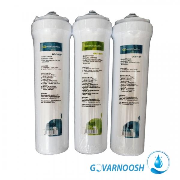فیلتر تصفیه آب خانگی ایزی ول با تعویض سریع و آسان