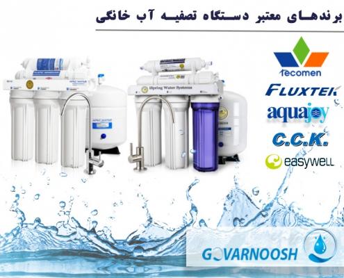 برندهای معتبر دستگاه تصفیه آب خانگی